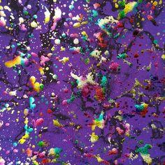 Paint splattered design in a foil multi finish on a purple background in a 4 way stretch spandex #1453. Diseño de salpicado de pintura en terminado metalico, cálidad 4 way stretch spandex #1453. #swimsuit #bathingsuit #bikinis #fun #healthy #fashion #trajesdebaño #in #fitness #stretch #sand #arena #girl #smile #summer #sun #cute #friends  #instalike #instagood #followme #art #instamotivation #selfie #sky #bikini