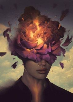 """Growth is uncomfortable Because you have never been here before You've never been this version of you. So give yourself a little grace And breathe through it...."" -Kristin Lohr Art by Aykut Aydogdu"