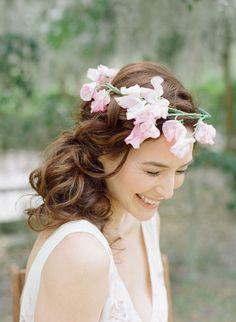 Photo by Elizabeth Messina/Flower Crown by Amy Osaba/Model Sarah Prikryl