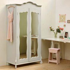 brocante kast met spiegeldeuren