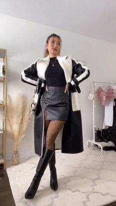 Winter Fashion Outfits, Edgy Outfits, Retro Outfits, Cute Casual Outfits, Cute Fashion, Look Fashion, Casual Chic, Korean Fashion, Aesthetic Clothes