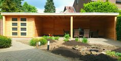 veranda terrasoverkapping met berging schuur