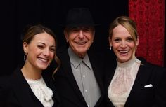 Leonard Cohen with the Webb Sisters
