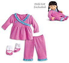 "A basic pajama pattern that fits American Girl Dolls and other 18"" Dolls. Download for free and enjoy! Basic sewing skills needed."