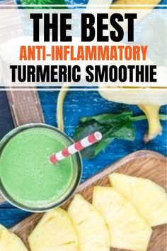 Best anti inflammatory smoothie recipe that makes a super easy breakfast in a jar or bowl and boosts the immune system while reducing inflammation. Recipe includes healthy ingredients such as leafy green, turmeric, pineapple, superfood spices and is dairy free Lose Weight In A Month, Fast Weight Loss, How To Lose Weight Fast, Detox Recipes, Smoothie Recipes, Belly After Baby, Anti Inflammatory Smoothie, Flat Stomach Fast, Lose 10 Pounds Fast
