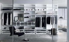 Charming White Walk In Closet Design Ideas With Open Clothes Shelves As Well As Clothes Rod Added Drawers In Master Closet Designs