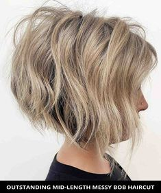 Get this popular outstanding mid-length messy bob haircut women are getting this year! See more details for it and the rest of thee 49 most stunning choppy bob hairstyles for a fresh new look. // Photo Credit: @shmoakin_hair on Instagram Choppy Bob Hairstyles, Latest Hairstyles, Bob Haircuts, Choppy Cut, Lisa Hair, Line Bob Haircut, A Line Bobs, Messy Bob, Textured Bob