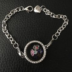 "Living locket bracelet w/charms *****NEW***** 7"" living locket bracelet with two charms (watering can & flower) along with star crystals Jewelry Bracelets"