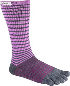 Injinji 2.0 Outdoor Original Weight Crew Nuwool Del Mar Socks, Burgundy, Small - http://womensoutdoorrecreationsocks.shopping-craze.com/index.php/2016/05/06/injinji-2-0-outdoor-original-weight-crew-nuwool-del-mar-socks-burgundy-small/