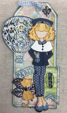 Giulia Prima doll stamp..along with Magnolia and LaLa Land dies- created by Joanne Scott