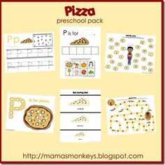 P is for Pizza Printable Pack