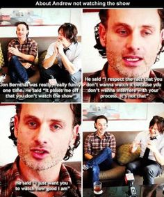 Andrew Lincoln... I can just hear his accent here. Can he just come and read to me for a while?