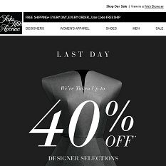 LAST DAY: Up to 40% OFF SALE