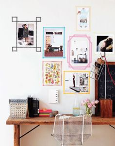 Washi tape is the perfect way to add a colorful pop to your walls. | domino.com