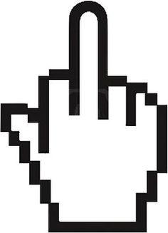 Pixel Middle Finger Sticker