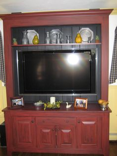 #60inchledtv Primtive TV cabinet~ I've been looking for a new one!!! I must have this!!