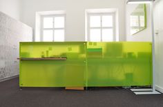 Czech Chambre of Architects - reception desk design by MOAD architects
