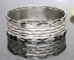 925 Sterling Silver Bracelet, Diamond cut Style, Large Bracelet, Diner Bracelet, Party Bracelet, Jewelry