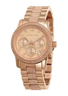 MICHAEL KORS Rose Gold Ladies Chronograph Runway Bracelet Watch Michael Kors Sale, Michael Kors Rose Gold, Michael Kors Watch, Jewelry 2014, Designer Collection, Gold Watch, Chronograph, Bracelet Watch, Jewelry Accessories
