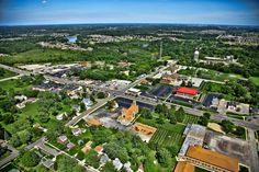 Aerial photo of downtown Saint John, Indiana in Lake County, Northwest Indiana. #st john #northwestindiana