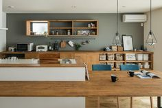Architectural design projects in Japan, including Japanese residences, public constructions and workplaces. Cafe Interior, Kitchen Interior, Kitchen Design, Muji Home, Furniture Stores Nyc, Kitchen Wallpaper, Kitchen Collection, Wooden Kitchen, Fashion Room