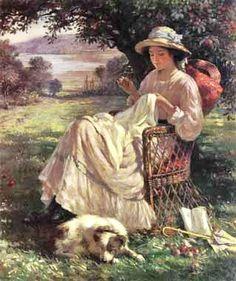William Kay Blacklock (1872-1922) - Sunlight and Shadow