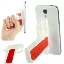 Pistole Gadget Halter für Smartphone - Rot