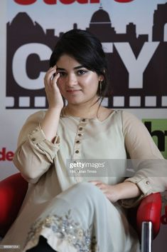 News Photo : Bollywood actress Zaira Wasim during an exclusi.- News Photo : Bollywood actress Zaira Wasim during an exclusive… News Photo : Bollywood actress Zaira Wasim during an exclusive… - Cute Girl Pic, Stylish Girl Pic, Girl Pictures, Girl Photos, Indian Fashion Dresses, Indian Outfits, Zaira Wasim, Dehati Girl Photo, Hollywood Actress Photos