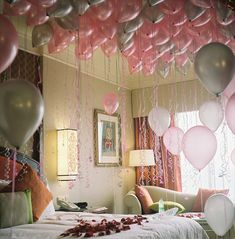 Sneak in your childs bedroom during the night before their birthday and release balloons for them to wake up to! I will def do this one day