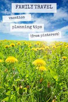 Family Friendly Travel Ideas via Pinterest