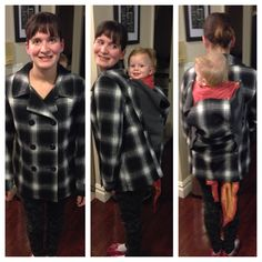 DIY babywearing coat for back carries