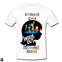 Inside Out Mommy And Daddy Of The Birthday By FantasyKidsDesigns Personalized Shirts Boys