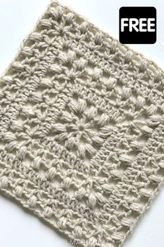 Crochet Squares Afghan, Crochet Blocks, Granny Square Crochet Pattern, Crochet Flower Patterns, Afghan Crochet Patterns, Crochet Motif, Crochet Yarn, Crochet Stitches, Free Crochet