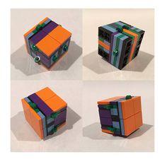 Magic Folding Yoshimoto Fidget Cube Built with LEGO Bricks  #fidgetcube #fidget #lego #legofidget #yoshimotocube
