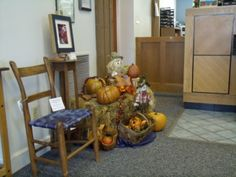 #canespotting! our dyed reed chair on display at Asheville Savings Bank. Silver River Center for Chair Caning » Better late than never…