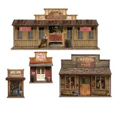 Great old, western town, elements.