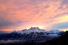 #leysin #sunset #nature #incredible #beauty #love #las #switzerland #swiss #alps
