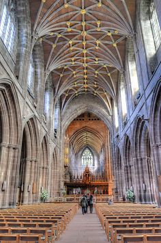 Chester Cathedral dates from between 1093 and the early 16th century, and had many alterations in the intervening period. The site had been used for Christian worship since Roman times. There was a Saxon abbey here from the mid-10th century, but this was razed to the ground in around 1090. In 1093 a Benedictine monastery was established here, and in 1541 this became a cathedral of the Church of England, following the dissolution of the monastries by King Henry VIII.