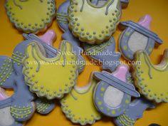 Sweet Handmade Cookies - bib cookies, soother cookies, rattle cookies