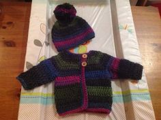 One of my favourite hat and cardi sets for twin 2