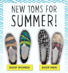 TOMS shoes available in our Apricot Lane Boutiques!