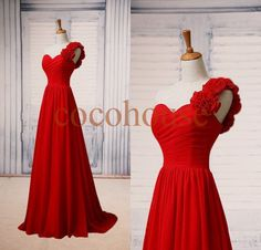 Hey, I found this really awesome Etsy listing at https://www.etsy.com/listing/197707320/red-one-shoulder-long-bridesmaid-dresses