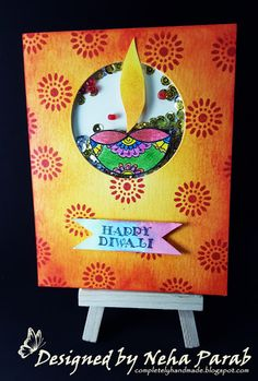 Completely Handmade......: Diwali Cards - Day 5