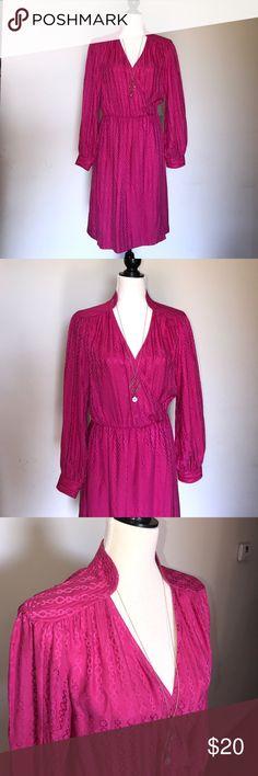 Trina Turk pink silk dress Trina Turk silk pink long sleeved wrap dress. No rips, holes or odors. Size 8. Trina Turk Dresses Long Sleeve