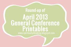 April 2013 General Conference Printables