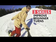 3 Skills to Improve Beginner Snowboard Turns - 3 Skills to Improve Beginner Snowboard Turns - ? Snowboarding For Beginners, Snowboarding Tips, Best Snowboards, Snowboard Girl, Top Gear, Outdoor Woman, Oakley, Skiing, Sports