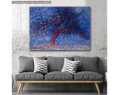 Red Tree, Piet Mondrian, αναπαραγωγή πίνακα ζωγραφικής σε καμβά,19,90 €,https://www.stickit.gr/index.php?id_product=20725&controller=product, Δείτε το !