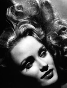 Jessica Lange photographed by George Hurrell, 1982.