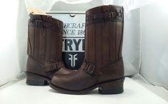 dd0a21b995c Frye Women s Jayden Cut Stud Dark Brown Washed Vintage Mid Calf Boots Size  6.5 M