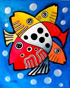 Abstract fish - interesting idea for an art quilt